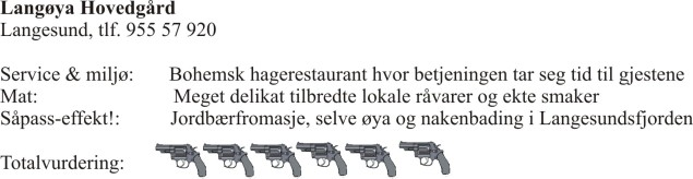 anmeldelse langøya hovedgård