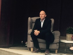 SKREKKMESTER: John Ajvide Lindquist fortale om sine grufulle bøker.