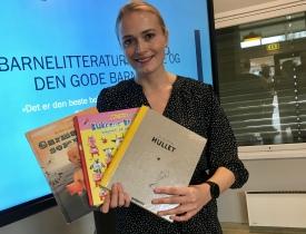BEST I VERDEN: Norske bildebøker har høy kvalitet, sier universitetslektor Julie Nordahl. Foto: Astrid Borchgrevink Lund.